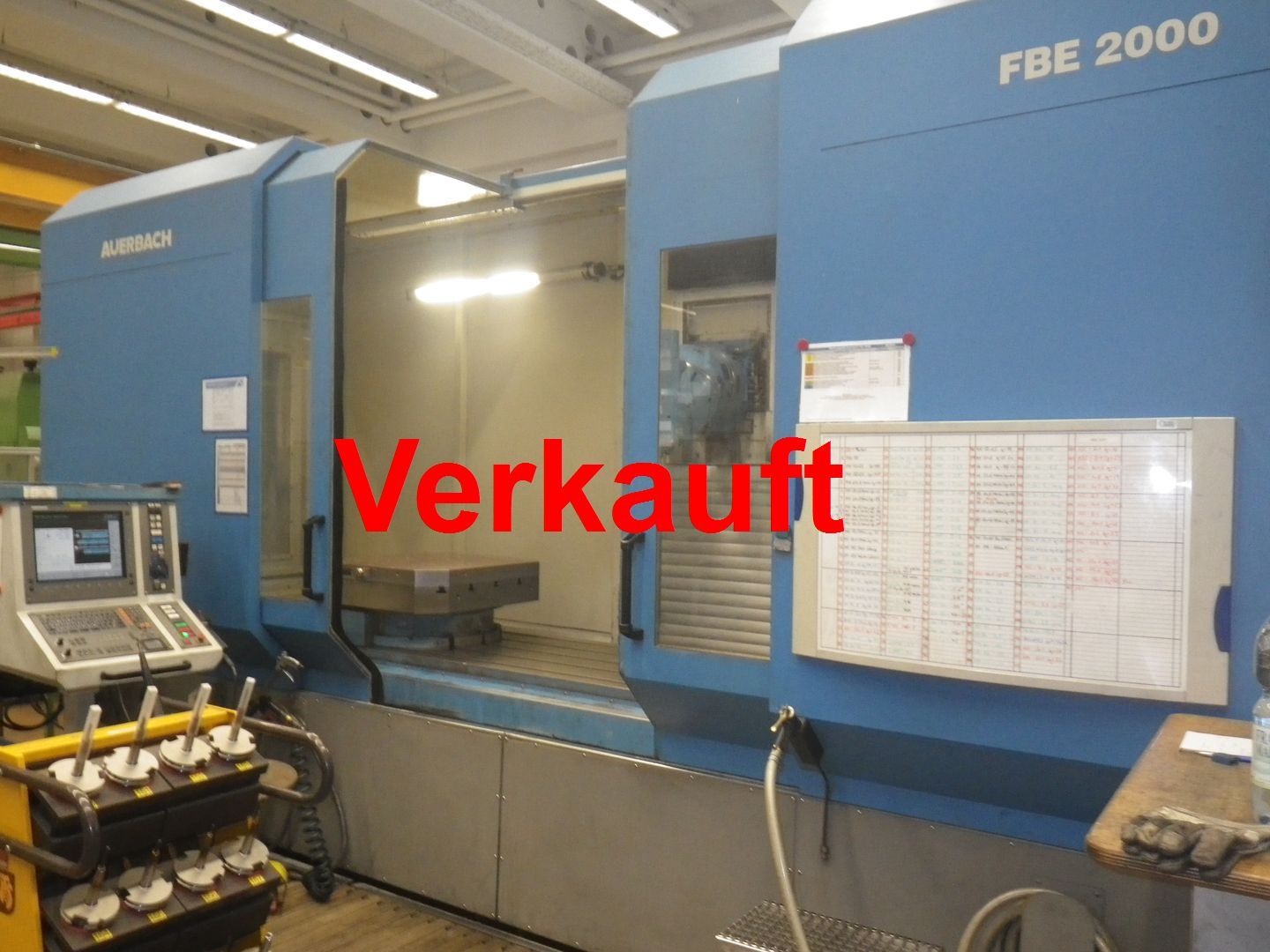 CNC universal Bed Type Milling Machine Auerbach FBE 2000 HSC
